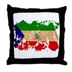 Equatorial Guinea Flag Throw Pillow