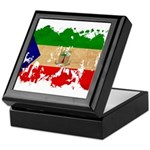 Equatorial Guinea Flag Keepsake Box