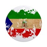 Equatorial Guinea Flag Ornament (Round)