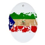 Equatorial Guinea Flag Ornament (Oval)
