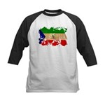 Equatorial Guinea Flag Kids Baseball Jersey