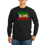 Equatorial Guinea Flag Long Sleeve Dark T-Shirt