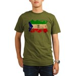 Equatorial Guinea Flag Organic Men's T-Shirt (dark