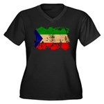 Equatorial Guinea Flag Women's Plus Size V-Neck Da