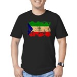Equatorial Guinea Flag Men's Fitted T-Shirt (dark)