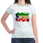 Equatorial Guinea Flag Jr. Ringer T-Shirt