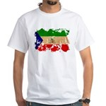 Equatorial Guinea Flag White T-Shirt
