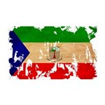 Equatorial Guinea Flag 38.5 x 24.5 Wall Peel