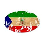 Equatorial Guinea Flag 22x14 Oval Wall Peel