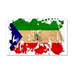 Equatorial Guinea Flag Car Magnet 20 x 12