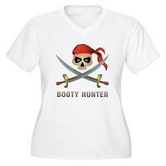 Booty Hunter Women's Plus Size V-Neck T-Shirt