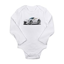 California White Convert Long Sleeve Infant Bodysu