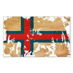 Faroe Islands Flag Sticker (Rectangle 50 pk)