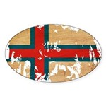 Faroe Islands Flag Sticker (Oval 10 pk)
