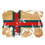 Faroe Islands Flag Postcards (Package of 8)