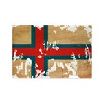 Faroe Islands Flag Rectangle Magnet (100 pack)