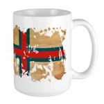 Faroe Islands Flag Large Mug