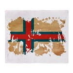 Faroe Islands Flag Throw Blanket