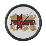 Faroe Islands Flag Large Wall Clock