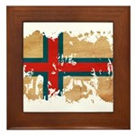 Faroe Islands Flag Framed Tile