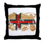 Faroe Islands Flag Throw Pillow