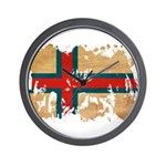 Faroe Islands Flag Wall Clock