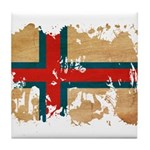 Faroe Islands Flag Tile Coaster