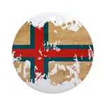 Faroe Islands Flag Ornament (Round)