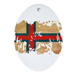 Faroe Islands Flag Ornament (Oval)