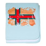 Faroe Islands Flag baby blanket