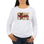 Faroe Islands Flag Women's Long Sleeve T-Shirt
