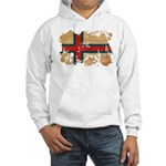 Faroe Islands Flag Hooded Sweatshirt