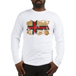 Faroe Islands Flag Long Sleeve T-Shirt