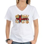 Faroe Islands Flag Women's V-Neck T-Shirt
