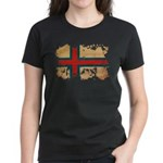 Faroe Islands Flag Women's Dark T-Shirt