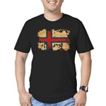 Faroe Islands Flag Men's Fitted T-Shirt (dark)