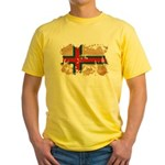 Faroe Islands Flag Yellow T-Shirt