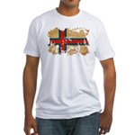 Faroe Islands Flag Fitted T-Shirt