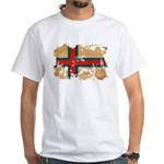 Faroe Islands Flag White T-Shirt