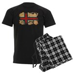 Faroe Islands Flag Men's Dark Pajamas
