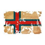 Faroe Islands Flag 38.5 x 24.5 Wall Peel