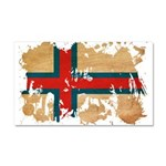 Faroe Islands Flag Car Magnet 20 x 12