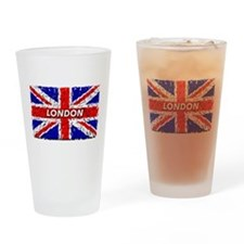 Awesome British Flag Drinking Glass