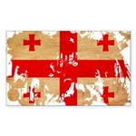 Georgia Flag Sticker (Rectangle 10 pk)