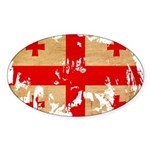 Georgia Flag Sticker (Oval 50 pk)