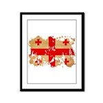 Georgia Flag Framed Panel Print