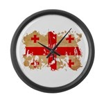 Georgia Flag Large Wall Clock