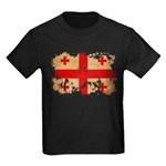 Georgia Flag Kids Dark T-Shirt