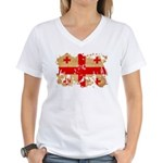 Georgia Flag Women's V-Neck T-Shirt