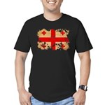 Georgia Flag Men's Fitted T-Shirt (dark)